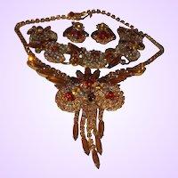 D&E Juliana Owl Design Necklace, Bracelet and Earrings