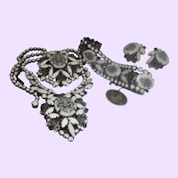 Clearance - D&E For Juliana Floral Transfer Grand Parure with an Original Hang Tag