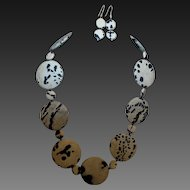 Hand Strung Creation by Danae of Leopard Jasper