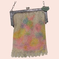 Clearance- Art Deco  Whiting and Davis Dresden Mesh Bag