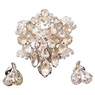 1960s Eisenberg Ice Clear Rhinestone 'Marriage' Set