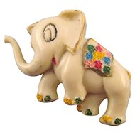 Plastic 'Happy Elephant' Figural Pin