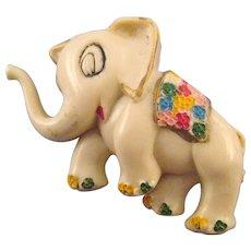 Plastic 'Happy Elephant' Figural Pin