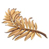 Trifari Winter 1963 Goldtone Trifanium 'Bent Branch' Pin