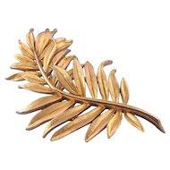 Trifari Winter 1963 Goldtone Trifanium 'Bent Branch' Pin