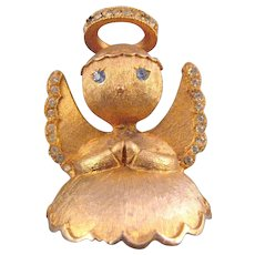 Ultracraft 'Angel on your Shoulder' Figural Goldtone Pin