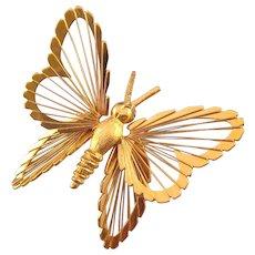 1961 Monet 'Spinnerette' Butterfly - Monet's Menagerie