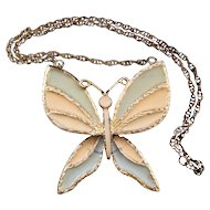 D&E aka Juliana Huge Butterfly Necklace - Book Reference