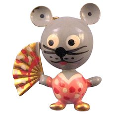 Robotic 'Puffed' Geisha Mouse Pin
