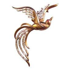 1950 Trifari Bird in Flight Brooch - Design Patent
