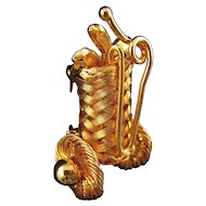 Tiny Woven Wire Golf Bag Pin