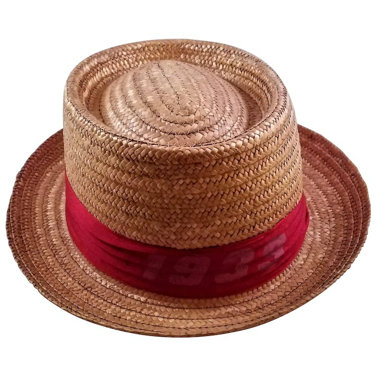 Vintage Men s 1939 Harvard Straw Hat - Made in Italy SOLD  db5c53082da