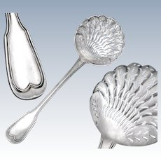 Vautrin: Antique French Sterling Silver Sugar Sifter Spoon