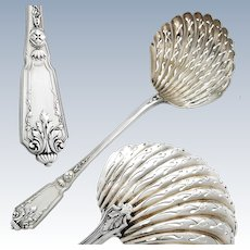 French Sterling Silver Sugar Sifter Spoon