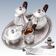 French Sterling Silver 4pc Coffee - Tea Service set 2.3kg