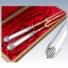 Boxed German .800 Silver and Gilt Metal Forks
