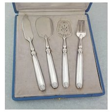 Boxed French Silver 4pc Hors d'Oeuvre Serving Set
