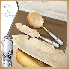 Boxed French Sterling Silver Ice Cream Set - Olier & Caron
