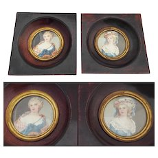 Two French Miniature Portrait Paintings
