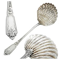 Antique French Sterling Silver Sugar Sifter Spoon