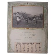 "1904 Advertising Calendar ""Going Milking Sir, She Said"""