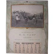 "1904 Advertising Calendar ""Going Milking Sir, She Said"""