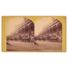 Stereoview Stage Coaches at Ft William Henry Hotel, Lake George, NY