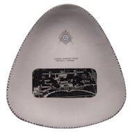 Unusual Vintage Triangular Masonic Plate