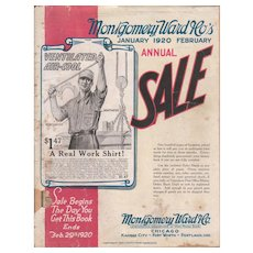 1920 Montgomery Ward Catalog - Red Tag Sale Item