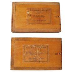 Pair Vintage Gannett Newspapers Type Boxes - Red Tag Sale Item