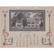 1912 Calendar from Oberlin College, Ohio