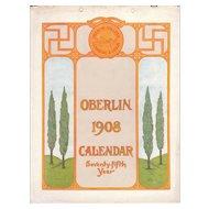 1908 Calendar of Oberlin College, Ohio (75th Anniversary)
