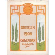 1908 Calendar of Oberlin College, Ohio (75th Anniversary)