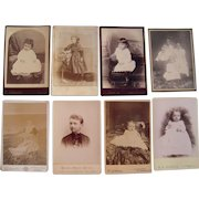 Lot of 8 1890s Cabinet Card Photos of Children #3
