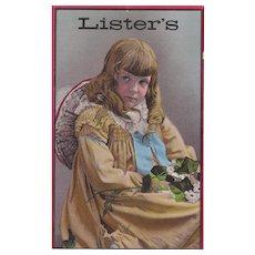 Large Advertising Trade Card Lister's Fertilizer