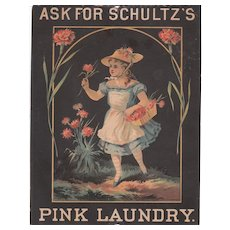 c1870s/1880s Advertisement/Trade Card for Schultz's Pink Laundry