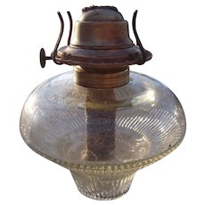 Late 1800s Oil Lamp Font and Burner #1