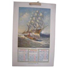 1908 Advertising Calendar (2 Available)