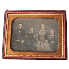 c1850s Quarter Plate Daguerreotype of Identified Family