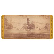 Civil War Stereoview Capitol Building at Richmond, VA