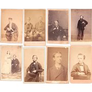 Lot of 8 CDV Photos of Men