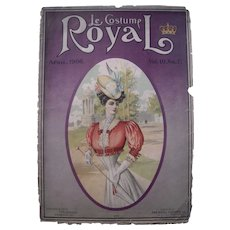 Pair 1906 Large Color Women's Fashion Plates from Le Costume Royal Magazine