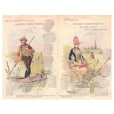 1889 Advertising Calendar DeMorest's Magazine