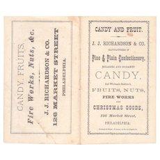 Victorian Era J.J. Richardson Candy Price List Booklet