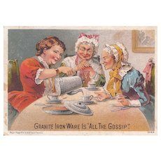 Graniteware Victorian Tradecard