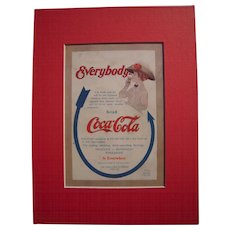 c1910 Matted Coca Cola Magazine Advertisement #2