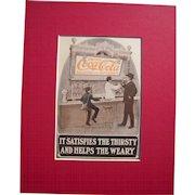 c1905 Matted Coca Cola Magazine Advertisement #3