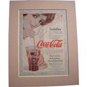 c1915-1920 Matted Coca Cola Magazine Advertisement #6