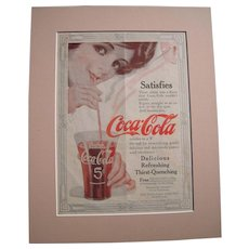 c1915-1920 Matted Coca Cola Magazine Advertisement #6