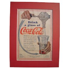 1912 Matted Coca Cola Advertisement #8